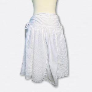 TRACY EVANS LIMITED Boho White Skirt Line SZ 9